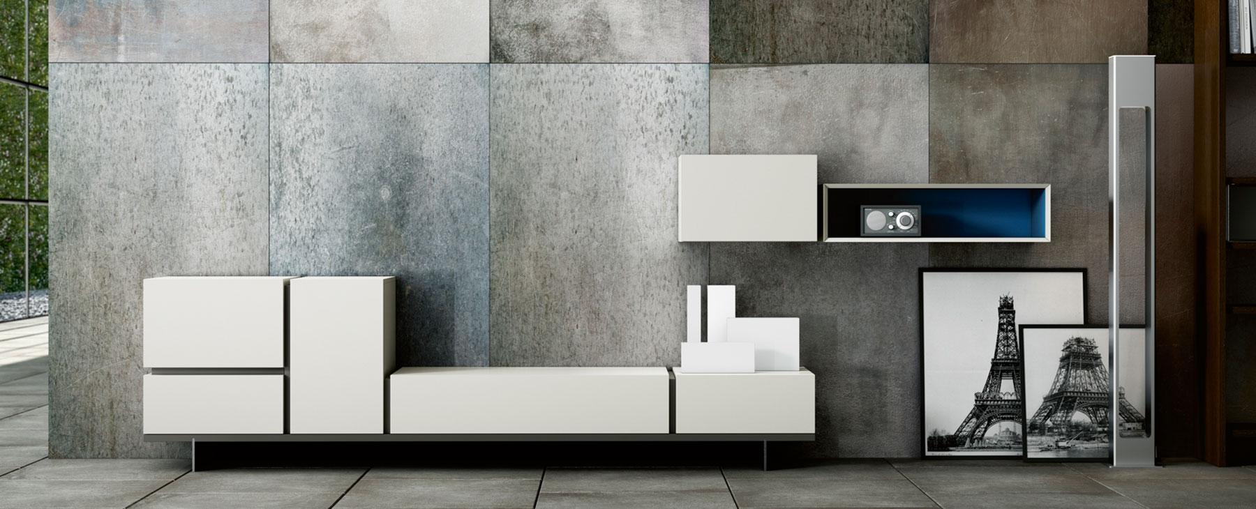 Muebles de televisin mueble de television blanco alaska for Muebles baratos alfafar